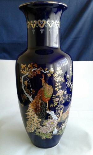 Jarron De Porcelana Japonesa, 31 Cm De Alto