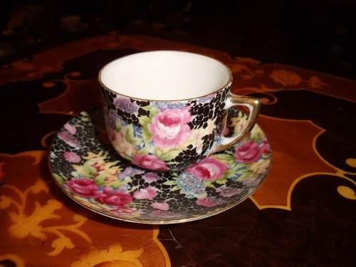 Taza Y Plato De Porcelana China De Dos Caracteres Con