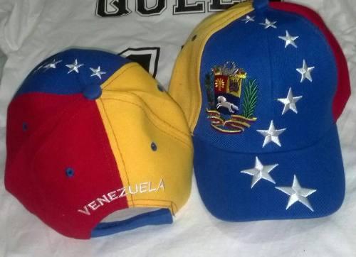 Gorra De Venezuela Tricolor 8 Estrellas