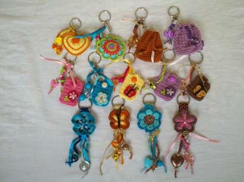 Llaveros Tejidos En Crochet (mayor Y Detal)