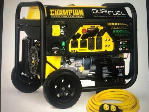 Planta Eléctrica Champion w Dual(gasolina Y Gas)