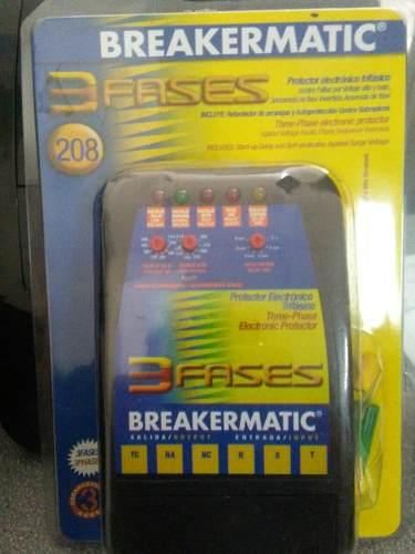 Protector Electronico Trifasico 220v Breakermatic Tu_frio