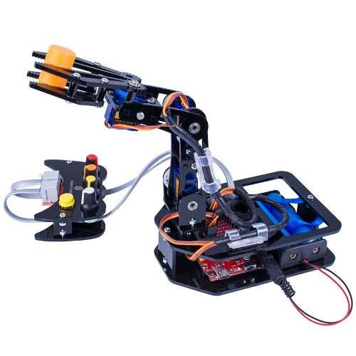 Robot Armable 4 Ejes Pinzas Sunfounder Labview Bagc