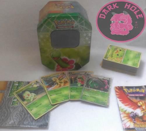 Pokemon: Lata De Cartas De Meganium De Hhss Mas 60 Cartas