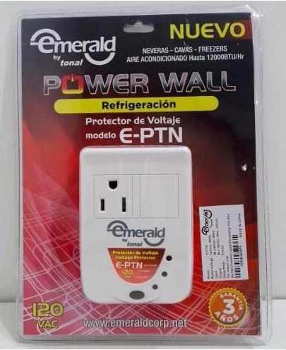 Protector Voltaje 1 Toma Nevera Freezer Aire 110v E-ptn