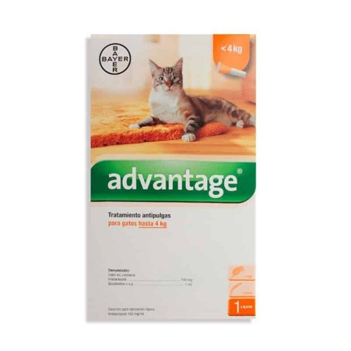 Advantage 4kg Pipeta Para Gatos Hasta 4 Kg De Bayer
