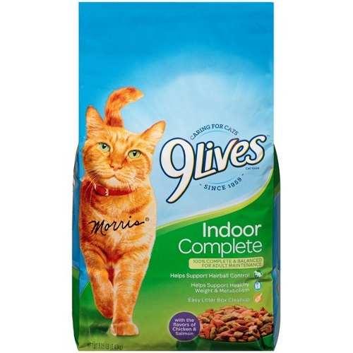 Alimento Para Gatos 9 Lives Indoor 9,07kg (somos Tienda)