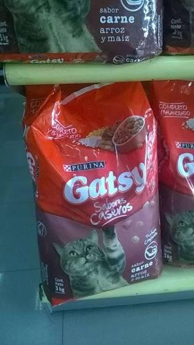 Alimentos Para Gatos Gatsy.presentacion De 3 Kg Y Bulto.