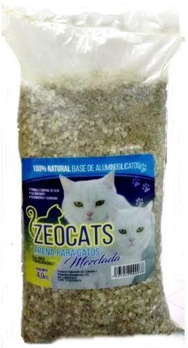 Arena Para Gatos Zeocats Mezclada 4 Kg