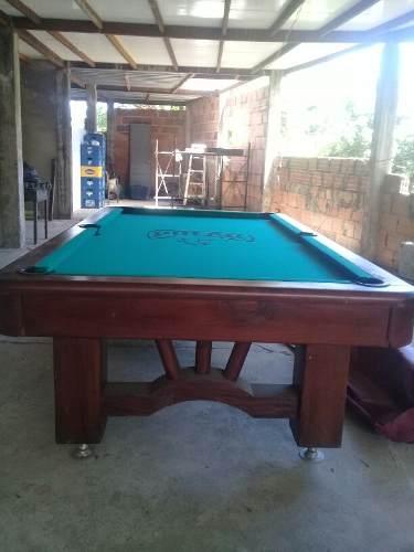 Mesa De Pool Profesional Con Porta Taquera, Juego De Bolas