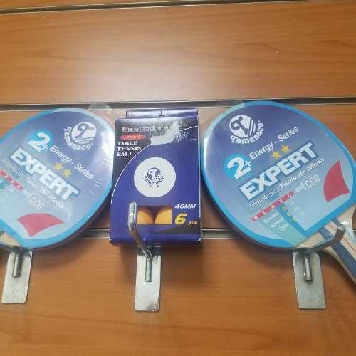 Raqueta Tenis De Mesa + Caja De 6 Pcs