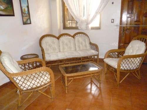 Hermoso Juego De Muebles Para Sala En Rattan, 6 Piezas