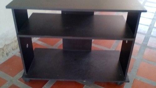 Mesa Para Tv Negra De Ruedas