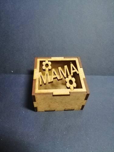 Cajas En Mdf Crudo De 3mm 6cmx6cmx3.5cm Corte Láser