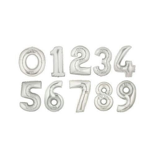 Globos Numeros Metalizados 40cms Combo De 2 Unidades