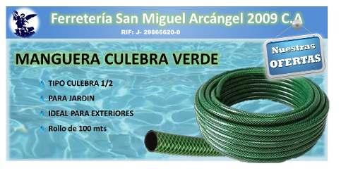 Manguera Culebra Para Jardín 1/2 Por Metro + Picos Gratis