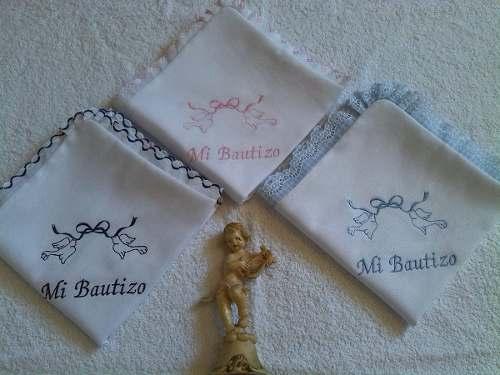 Pañuelos De Bautizo Bordados