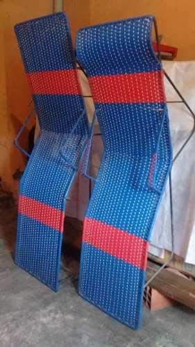 Sillas Peresozas Tejidas En Plastico (par)