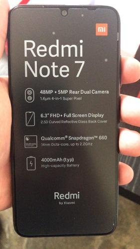 Xiaomi Redmi Note 7 Con Lector De Huella 64gb+4gb 48mp+2mp