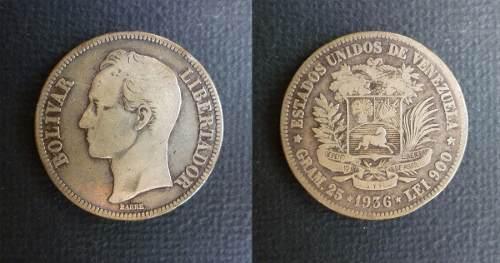 Antigua Moneda De Plata De  Grms)