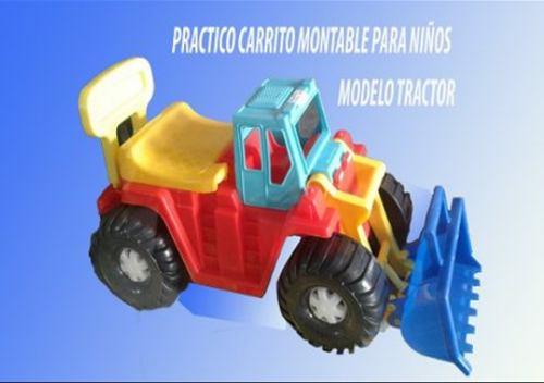 Carro Carrito Tractor Montable Para Niños De 1 A 5 Años
