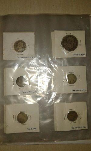 Colección De Monedas Antiguas Venezolanas