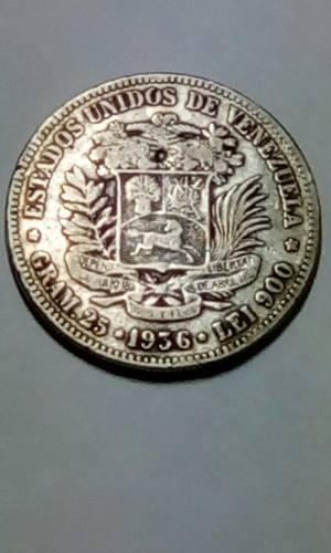 Moneda De 5 Bolivares En Plata Año