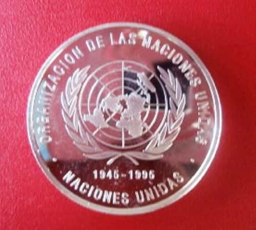 Moneda De Plata 500 Bs. Organizacion De Las Naciones Unidas