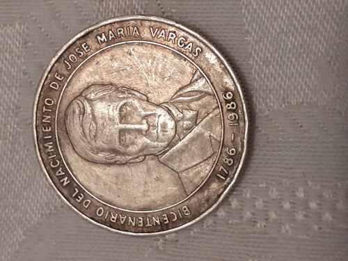 Moneda De Plata 925 Centenario Jose Maria Vargas