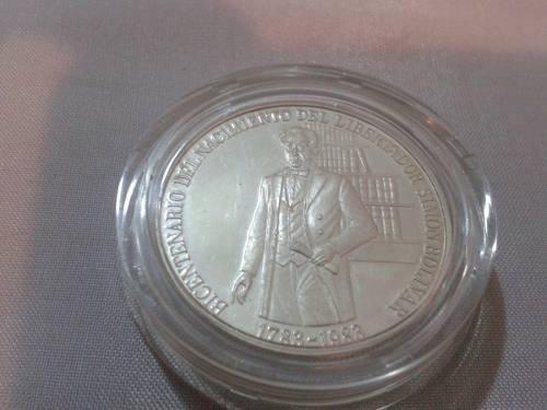 Moneda De Plata Bicentenario Del Nacimiento De Simón