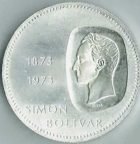 Moneda De Plata Doblon...simon Bolivar