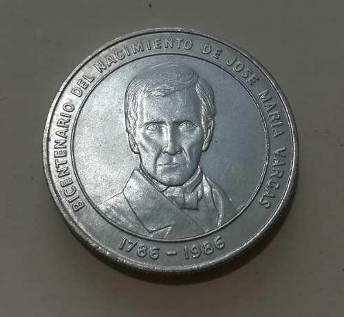 Moneda Nacimiento Jose Maria Vargas Plata