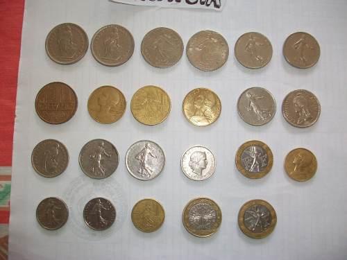 Monedas Antiguas De Francia Fuera De Circulaccion