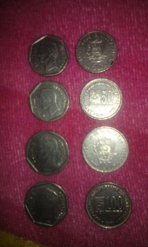 Monedas De 50 Y 100 Bolivares