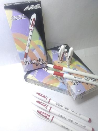 Boligrafo Rojo A-ink Gel  Caja 12 Und X Bs