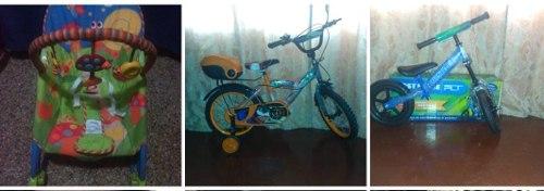 3 Bicicletas Y 1 Silla Fisher Price Combo Dia Del Niño