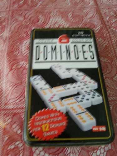 Juego De Domino Puntos De Colores Estuche De Metal