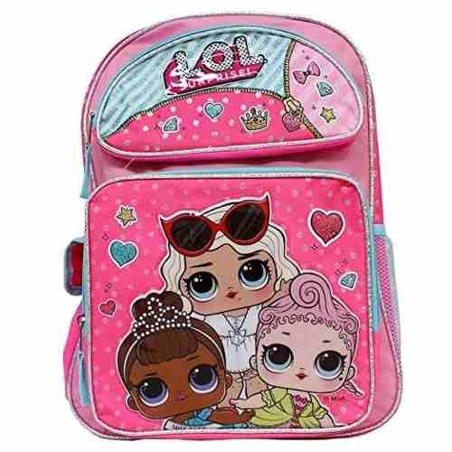 Bolso Escolar Muñeca Lol Surprise Hot Pink 100% Original