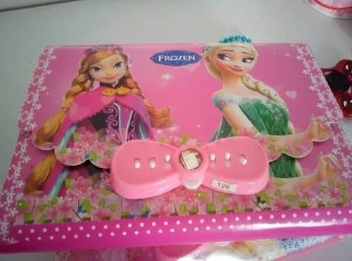 Cartera Con Clave Y Diario De Frozen O De Las Princesas