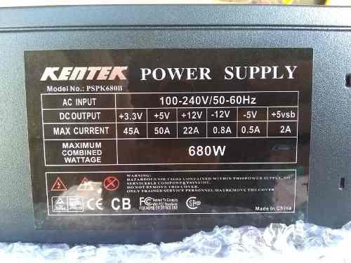 Fuente De Poder Para Pc De 680w Profesional