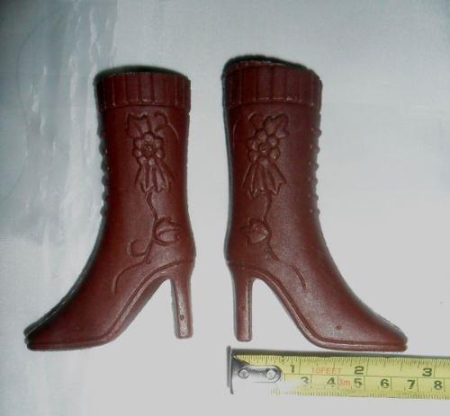 Zapatos - Botas De Plastico Para Muñeca (medidas En Fotos)