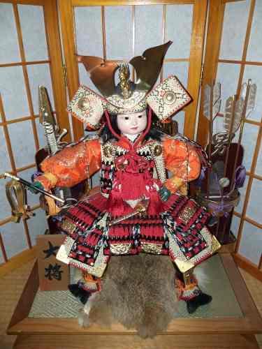 Armadura Samurai Yoroi Kabuto Niño.original. Importado