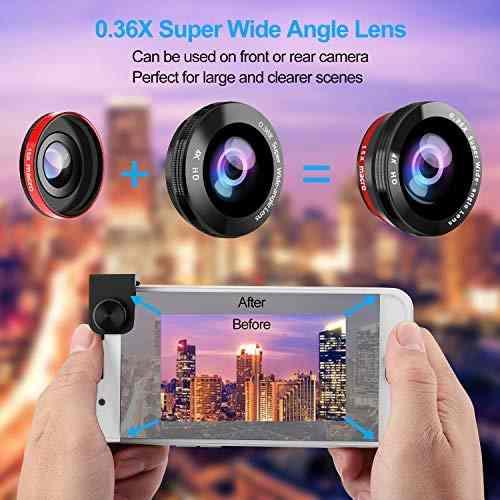 Para Celular Cleecli Kit Lente Camara Telefono Zoom Amz