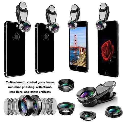 Para Celular Kit Lente 5 1 Camara Telefono Macro Gran Amz