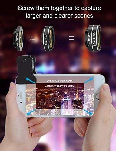 Para Celular Lente Camara Telefono  Ultima Kit Amz
