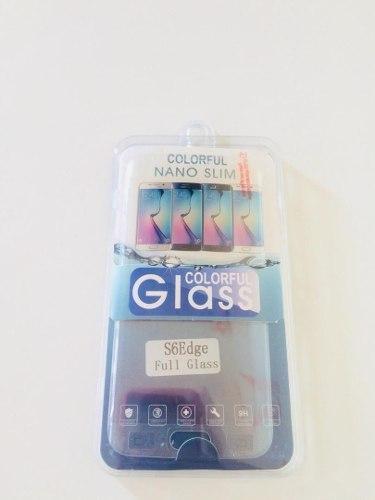 Protector Vidrio Templado Samsung S6 Edge Curvo