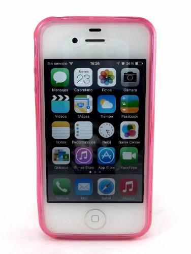 Estuche Celular iPhone 4s, Forro De Silicone, Goma, iPhone 4