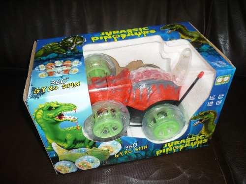 Jurassic Dinosaurios Carro A Control Remoto Con Luces 360