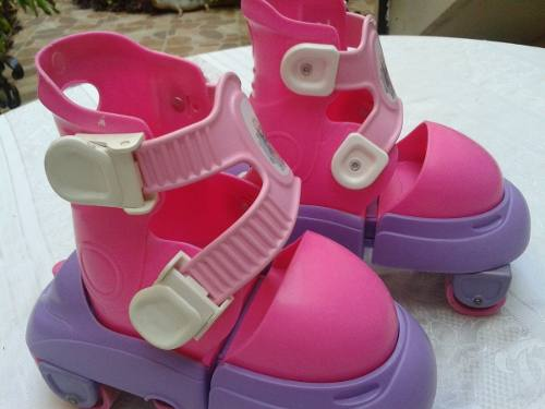 Patines Lineales Barbie Ajustables De La 32 A La Talla 36