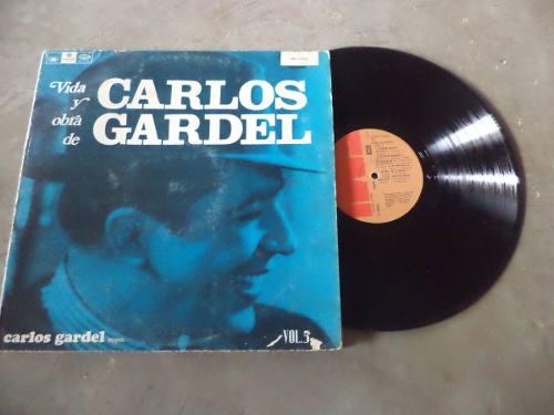 Disco Lp, Vinil, Acetato Vida Y Obra De Carlos Gardel